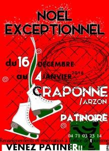 ANIMATION DE NOEL  PATINEZ A CRAPONNE DU 16 DECEMBRE AU 04 JANVIER 2016
