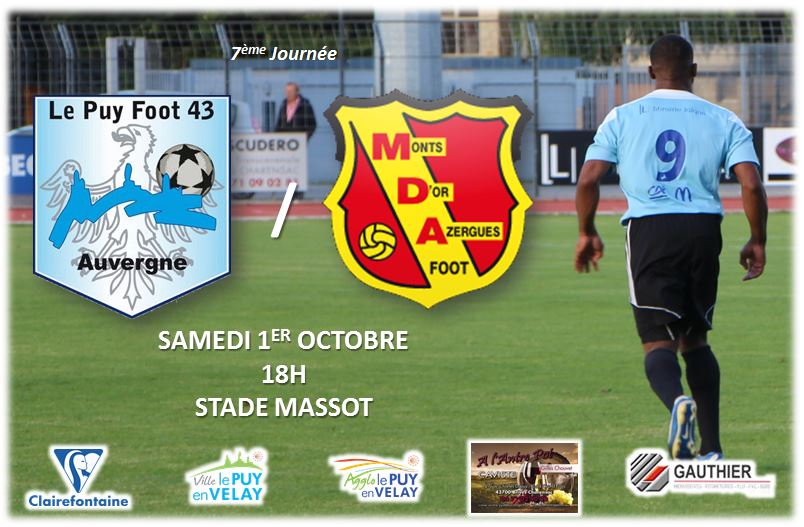 CFA GROUPE C FOOT LE PUY FOOT 43-CHASSELAY 01/10/16 18H EN DIRECT