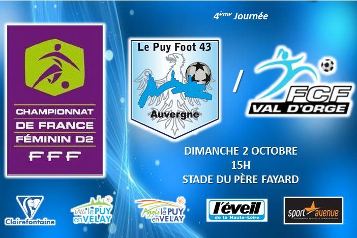 DIVISION 2 FEMININE FOOT LE PUY FOOT 43-VAL D'ORGE 02/10/16 15h