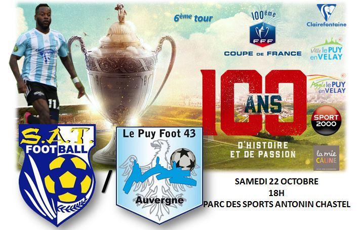 COUPE DE FRANCE 6EME TOUR THIERS-LE PUY FOOT 43 22/10/16 18H