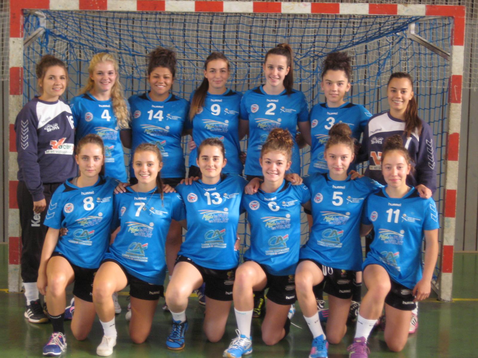 HAND BALL U18 NATIONALE FEMININE ST GERMAIN BLAVOZY HOPC – LE POUZIN 01/10/16  18H30
