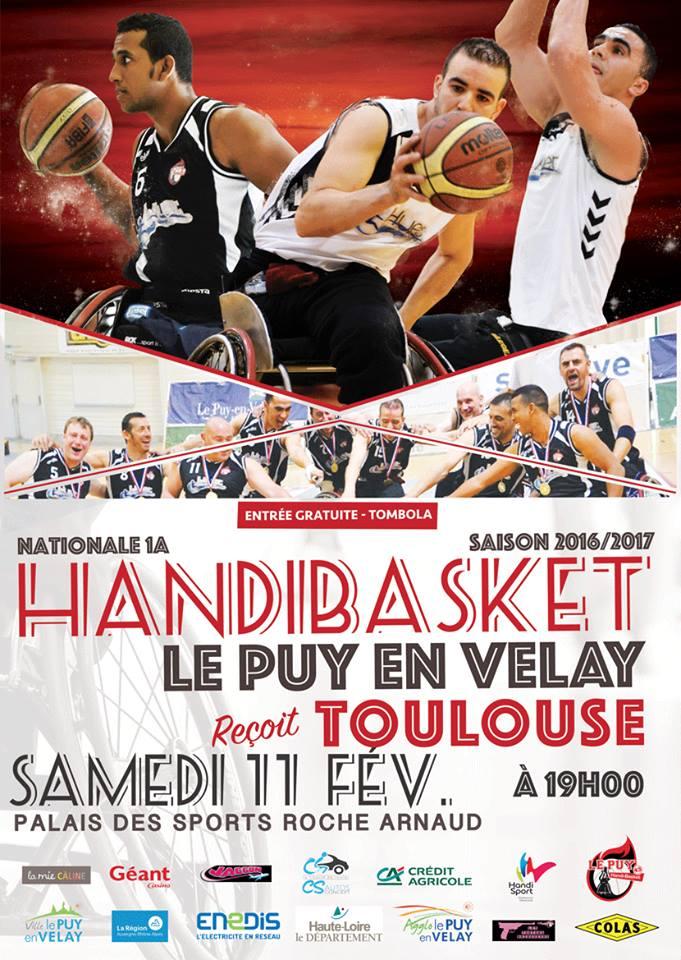 handi basket nationale 1 a le puy handibasket 58-47 Toulouse réac après match 11/02/17