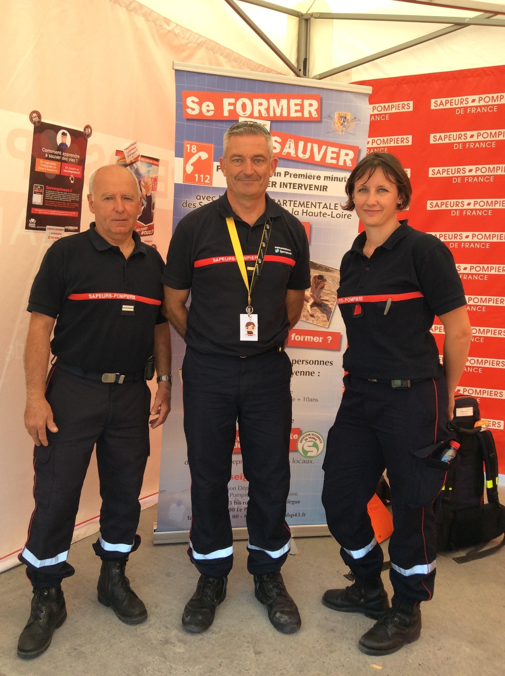 les pompiers sur le tour 2017 18/07/17