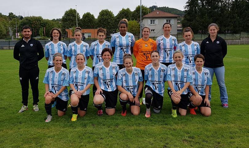 foot Auvergne division honneur féminine cerzat1-8 le puy foot 43apres match