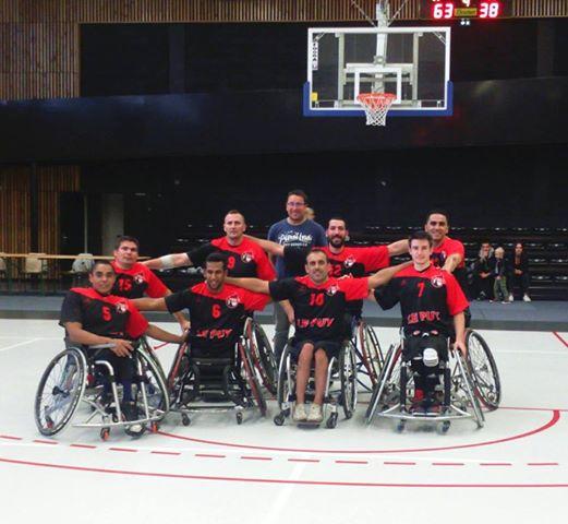 handibasket nationale 1a Marseille 63-70 le puy handi basket après match