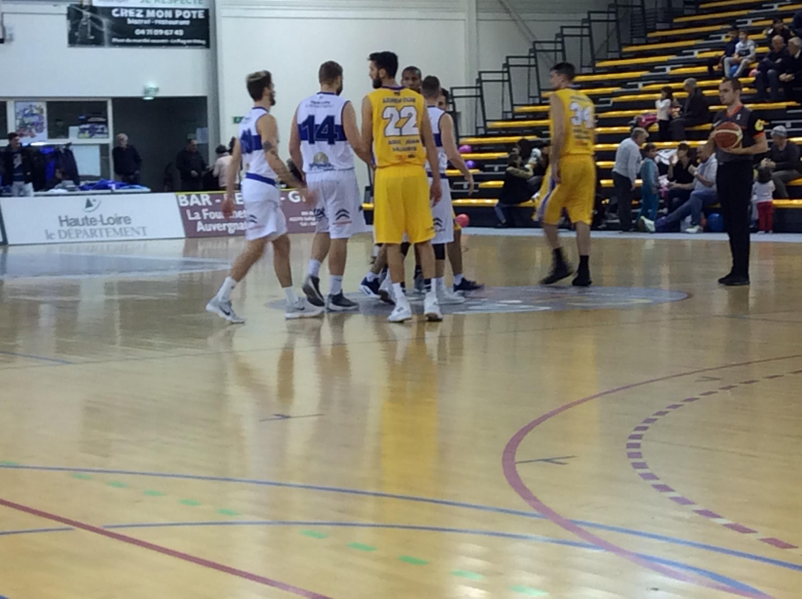 nationale 2 basket Besançon 77-65 asmb le puy réac après match