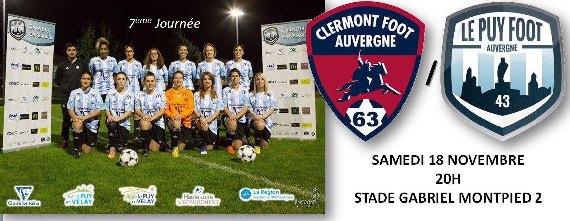 régionale 1 féminine Auvergne clermont foot – le puy foot 43 181117 20h avant match
