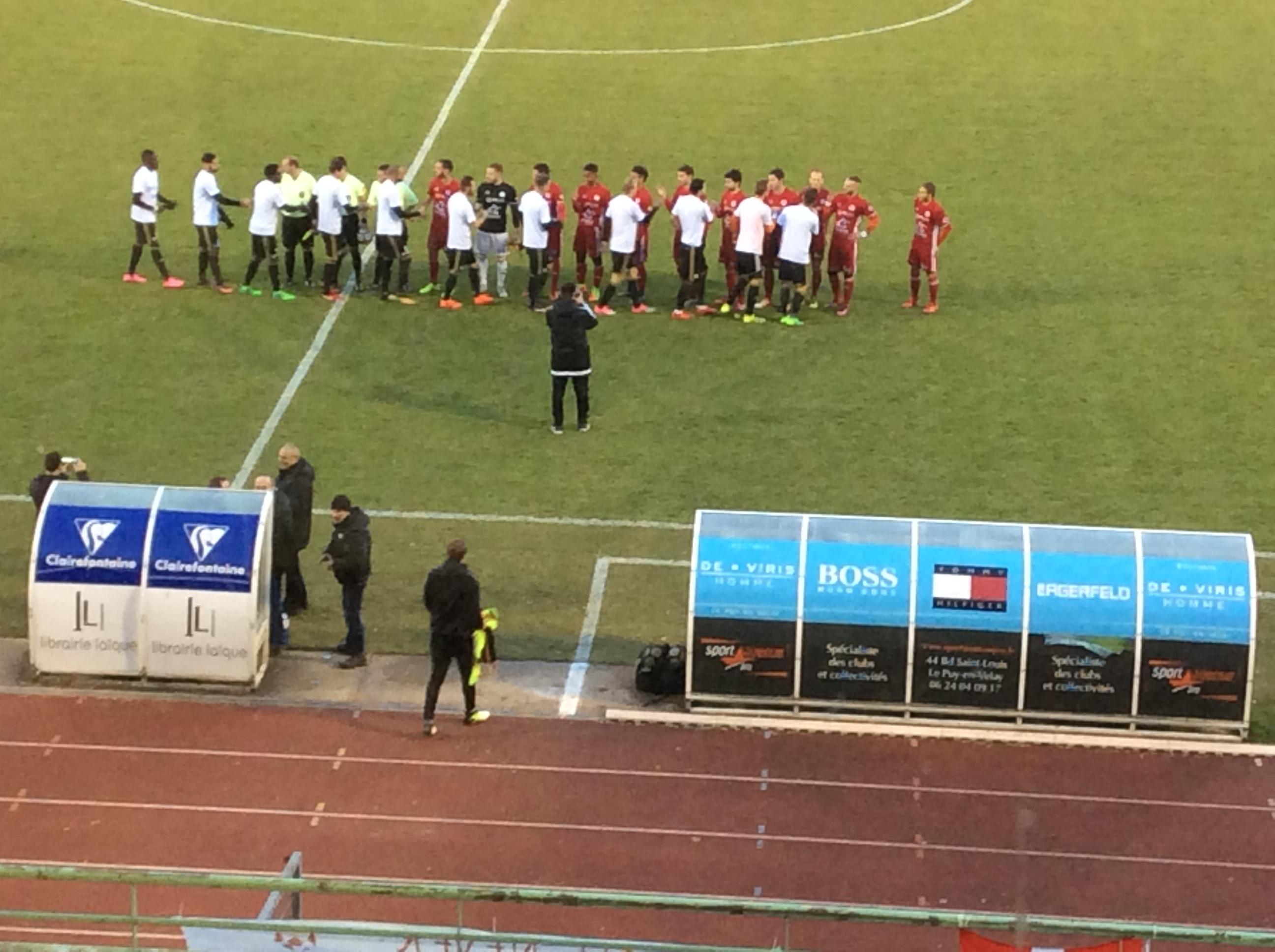 nationale 2 foot le puy foot 43 0-0 Annecy après match 101217