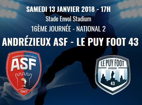 nationale 2 foot andrezieux-le puy foot 43 avant match 130118 en direct a partir de 17h