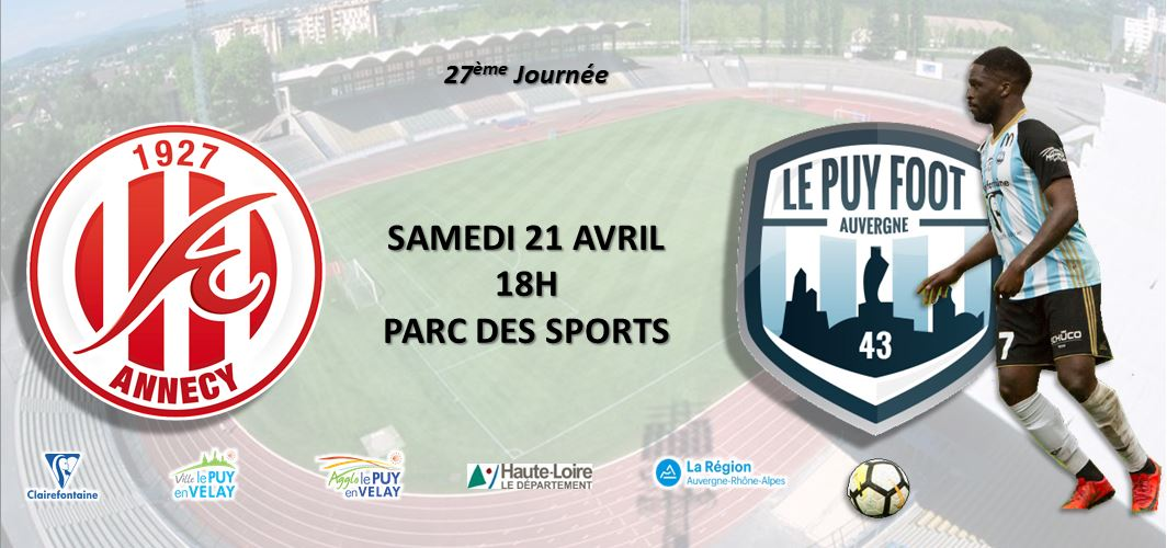 nationale 2 foot Annecy-le puy foot 43 18h en direct sur votre radio