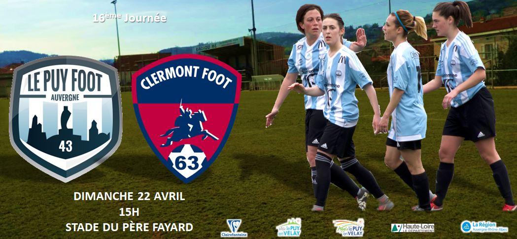 régionale 1 foot féminin Auvergne le puy foot 43-clermont foot 220418 15h père fayard