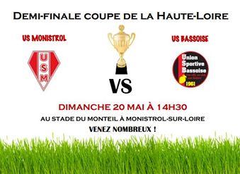 1/2 finale de la coupe de la hte Loire monistrol/Loire – bas en basset 200518 14h30