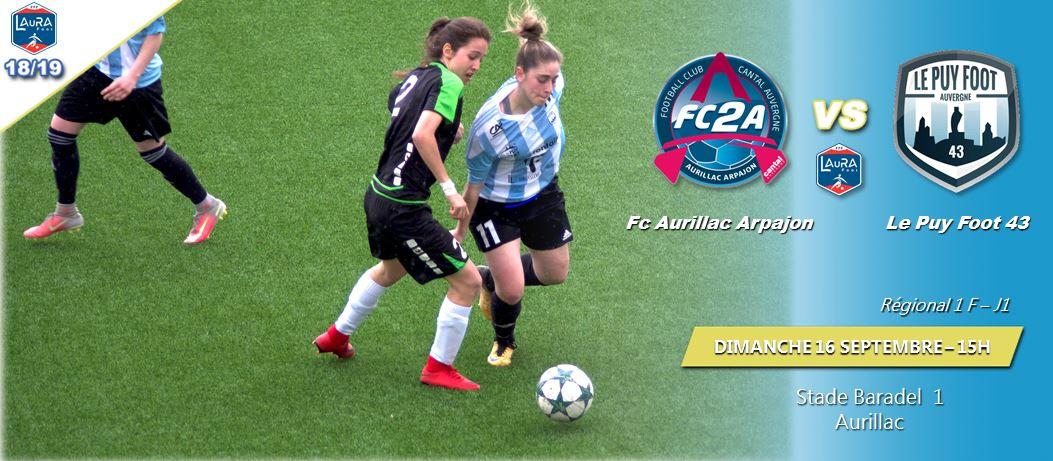 regionale 1 foot féminin aura arpajon Aurillac 1-0 le puy foot 43 réac après match 160918