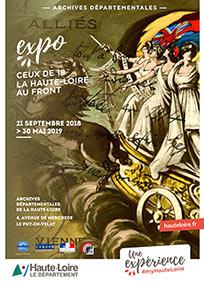 expo aux archives départementales sur la guerre de 14-18 en hte Loire martin de framon et Henri chanal 131018
