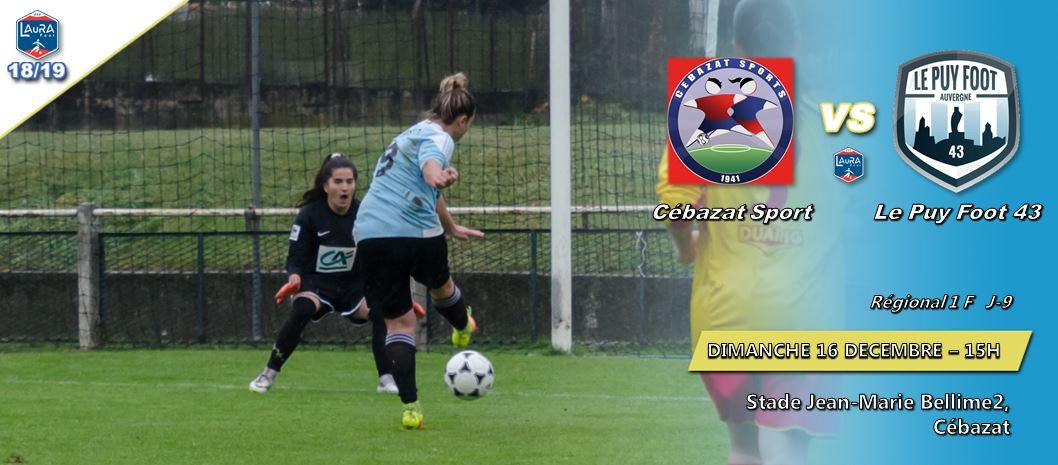 regionale 1 féminine foot aura cebazat-le puy foot 43 161218 15h