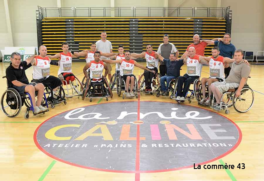 handi basket nationale 1 a les aigles du Velay- le Cannet 19h 160219 palais des sports avant match