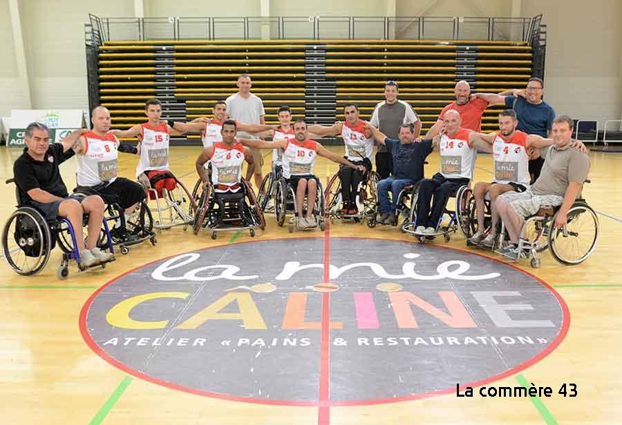 handi basket nationale 1 a les aigles du Velay- le Cannet 19h 160219 palais des sports avant match