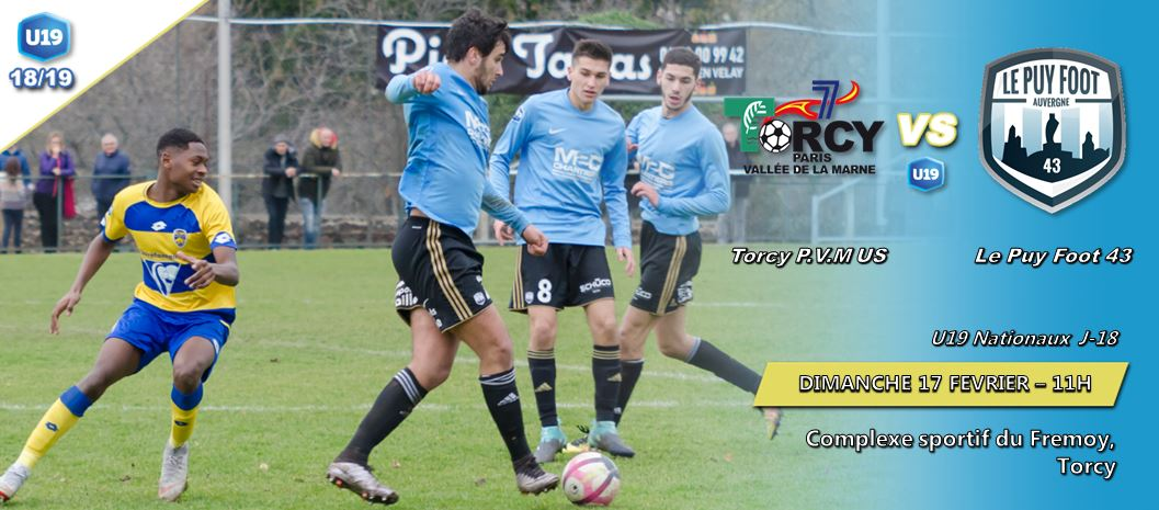 u 19 nationaux foot Torcy-le puy foot 43 170219 11h avant match