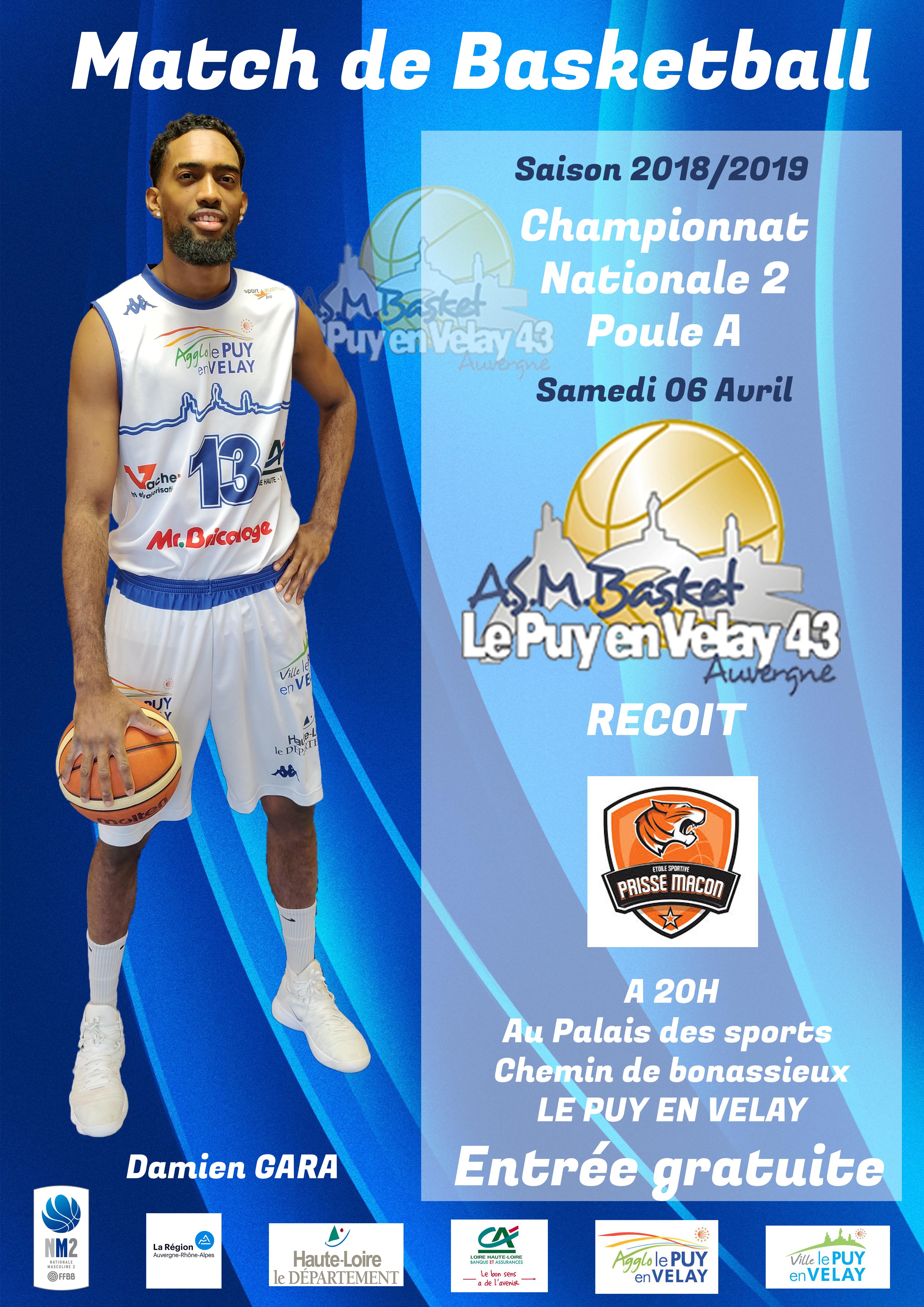 Prisse Le Nationale Avant 20h 060419 Puy Basket 2 Asmb Mâcon Match ZkiuOPTX