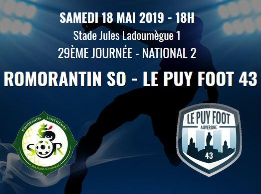 national 2 foot romorantin -le puy foot 43 avant match 18h 180519