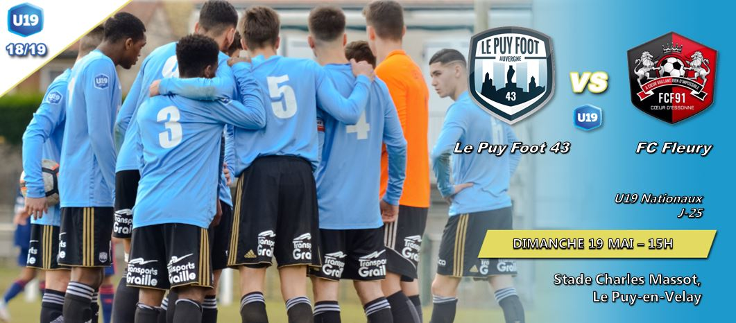 u19national foot le puy foot-fleury avant match 190519 15h a massot