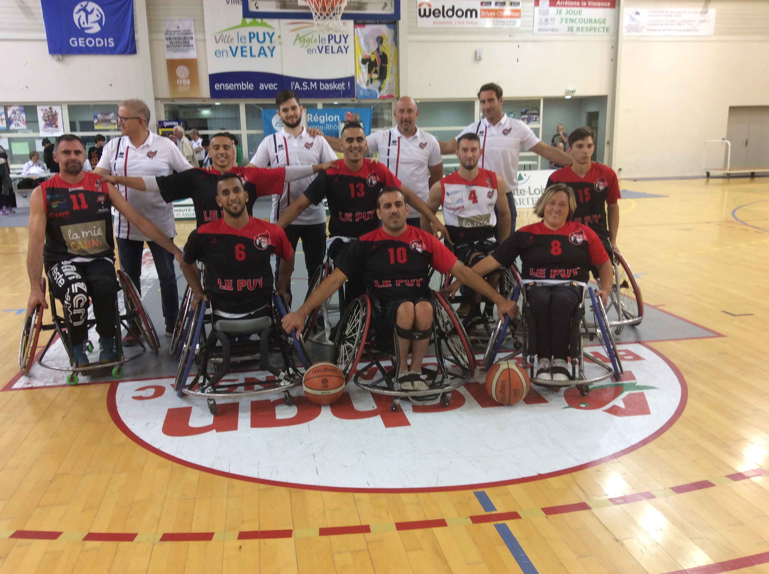 handi basket les aigles du velay-lannion avant match 121019 20h