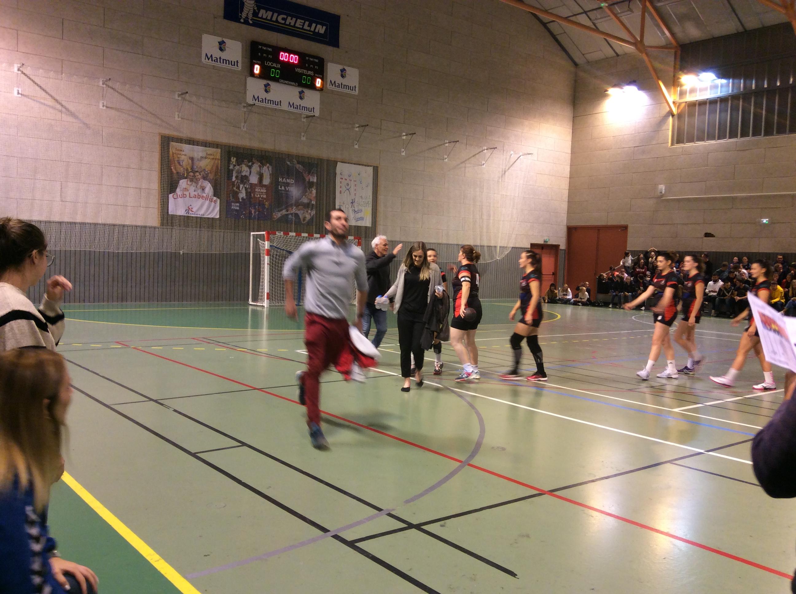 hand ball n3 féminine stade clermontois 37-29 hbc loudes réac après match
