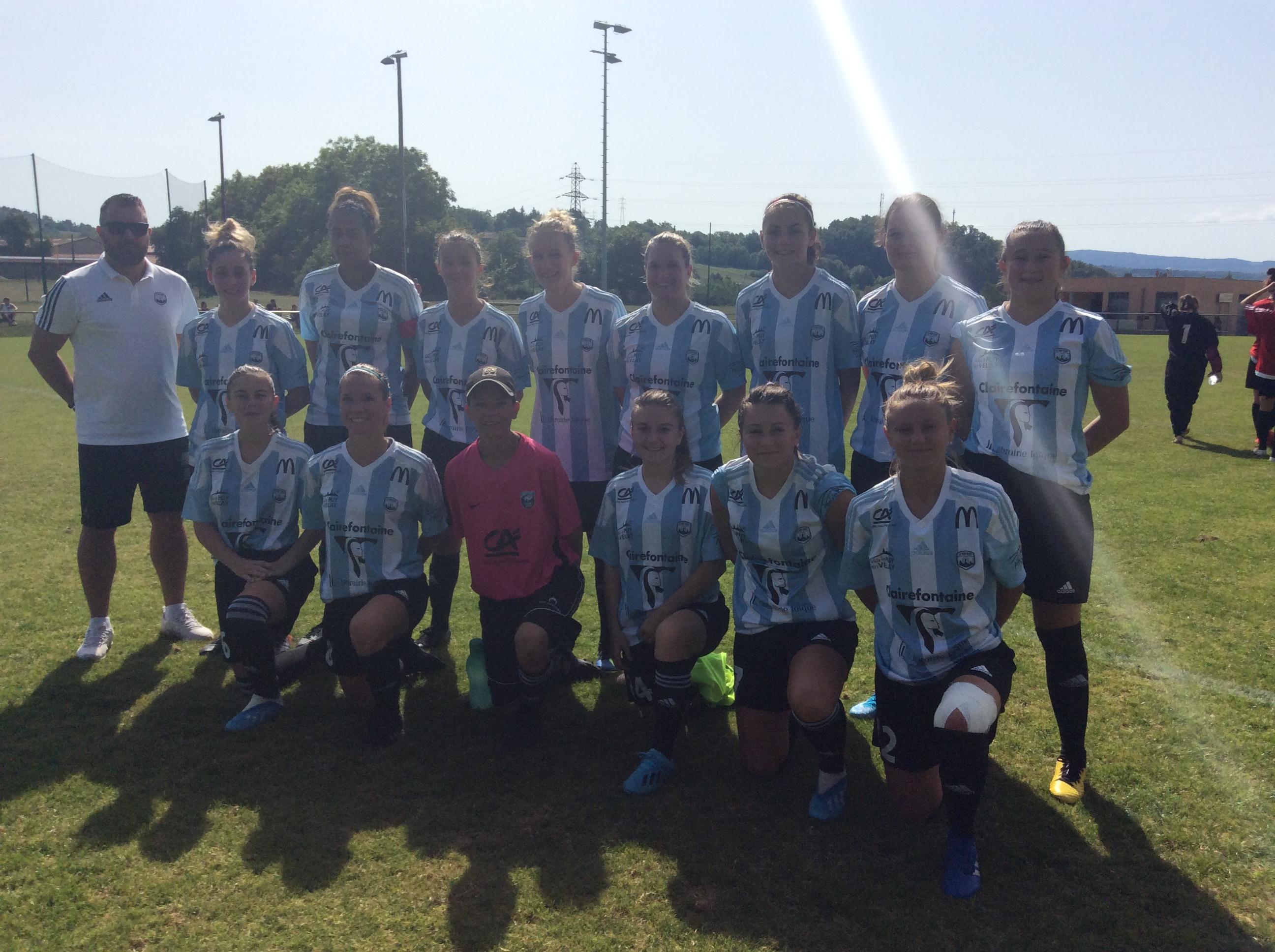 regionale 1 feminine foot aura le puy foot 43 6-0 moulins Yzeure réac après match 141019