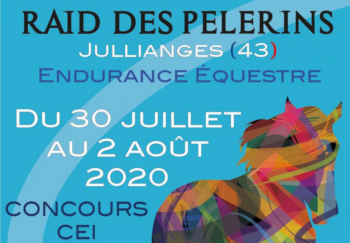 raid des pèlerins jullianges 43 hte Loire du 30/07/20 au 02/08/20 endurance équestre Yves cuerq pdt 2er2a