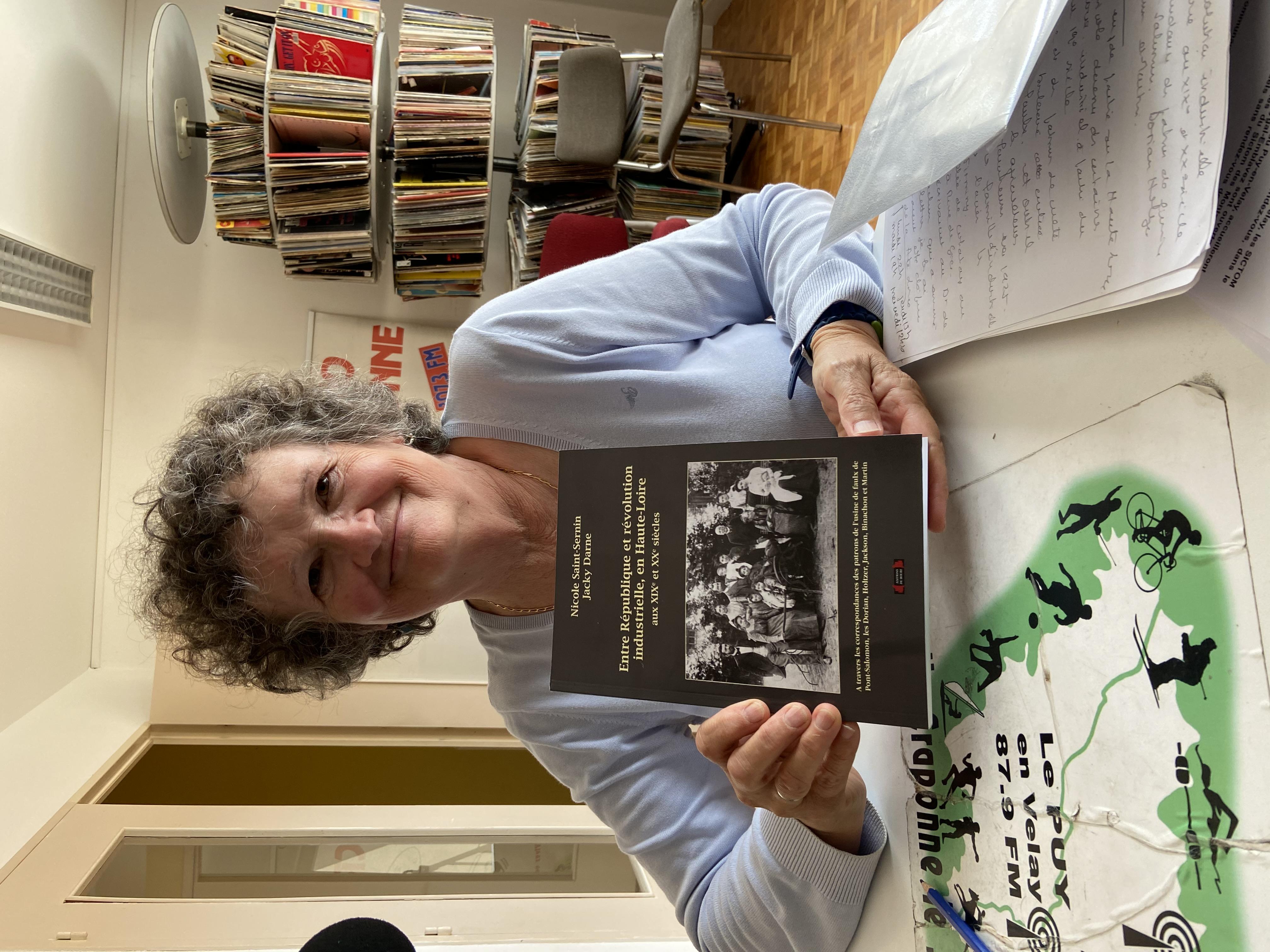 invite du jeudi Nicole saint sernin pour son livre entre république et révolution industrielle en hte Loire