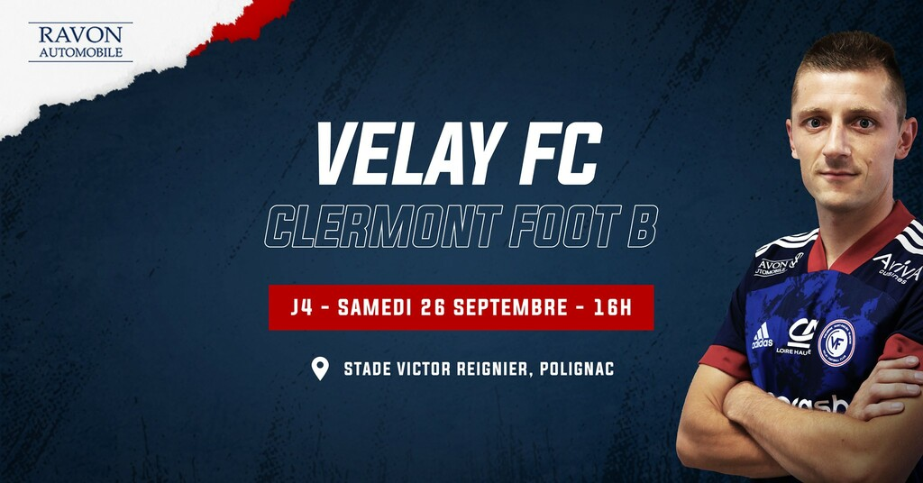 national 3 foot aura velay fc-clermont foot b avant match samedi 16h