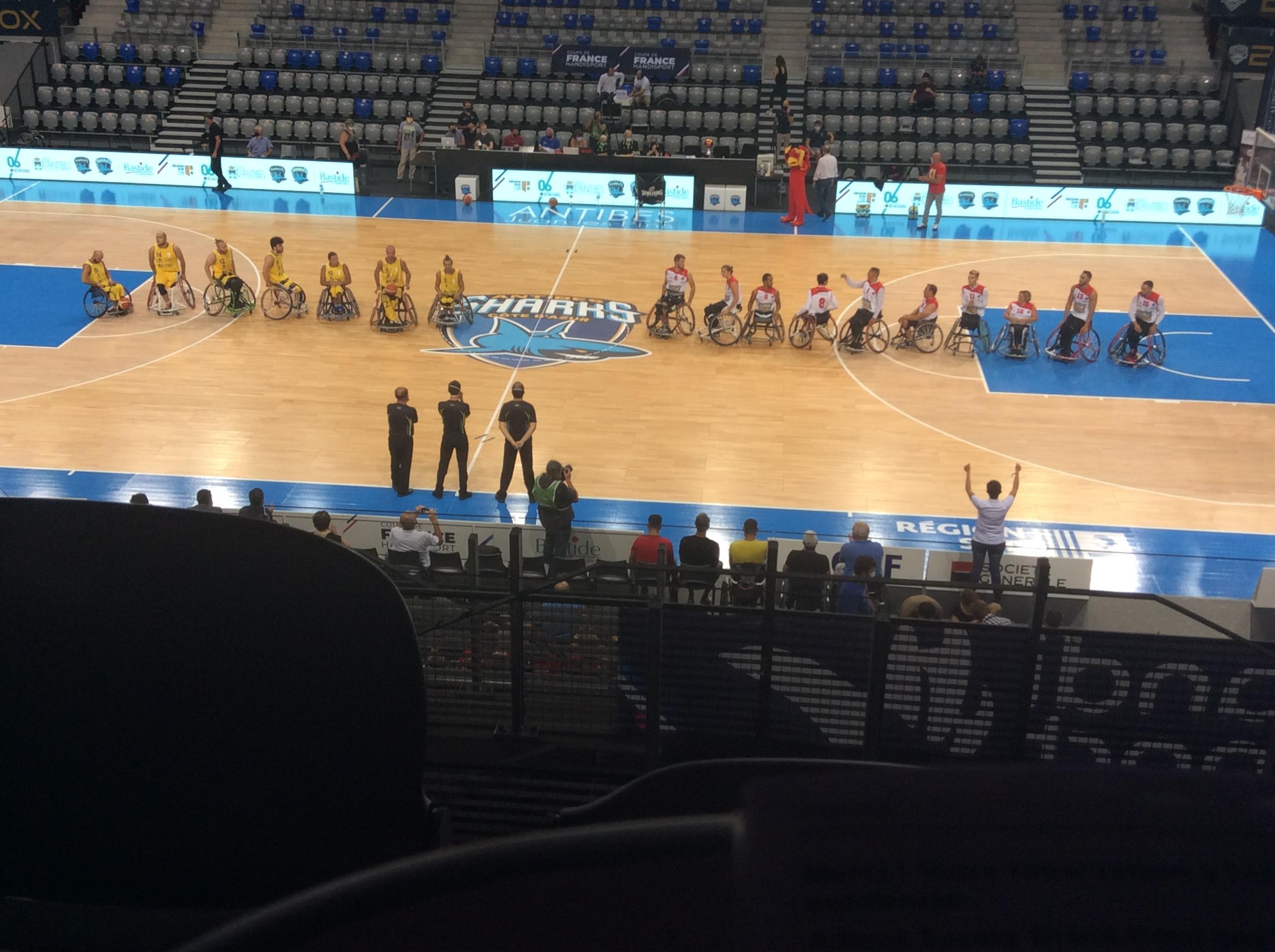 finale coupe de france handi basket hyeres 66-61 les aigles du Velay réac après match 210920
