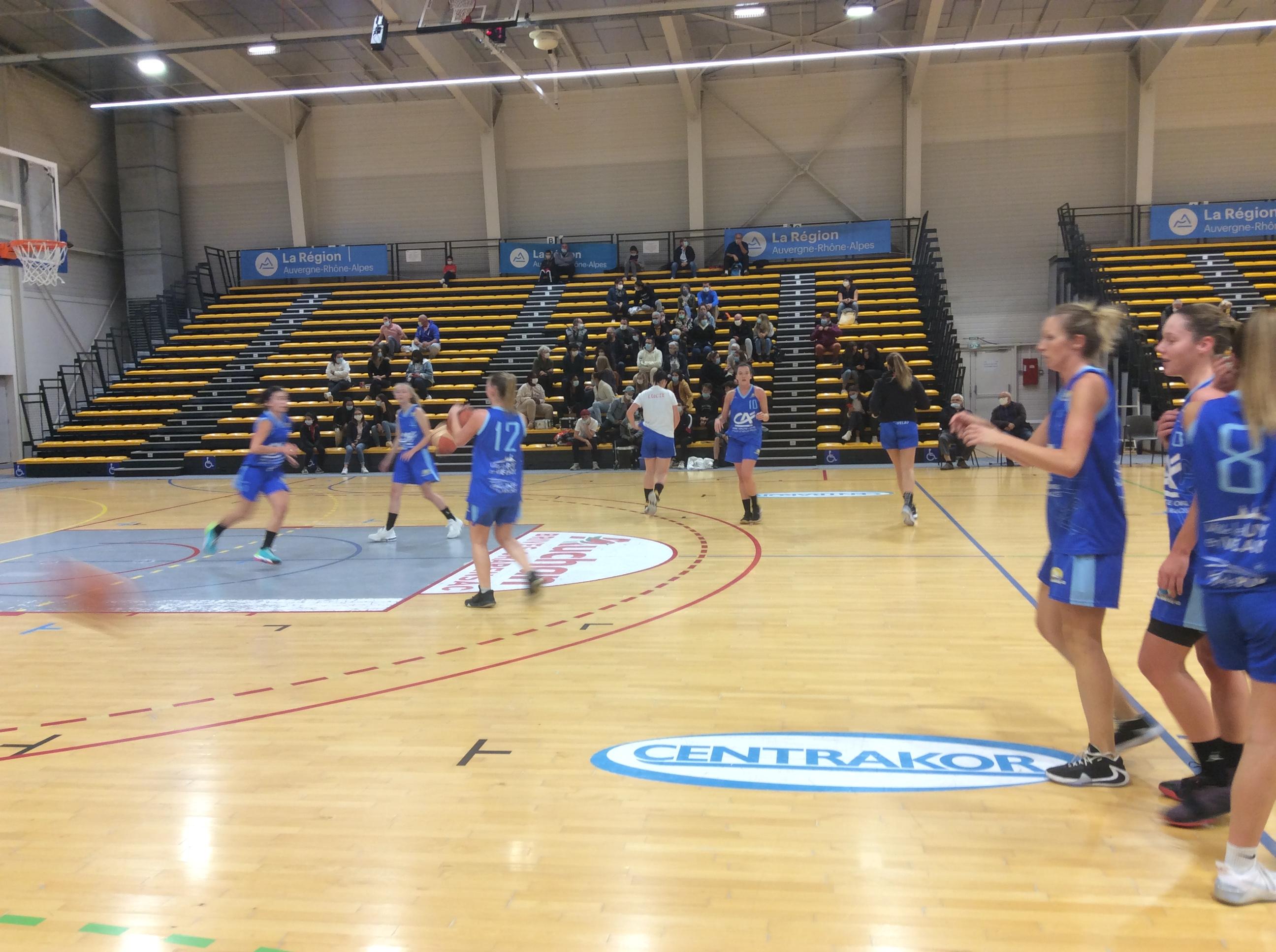 basket prenationale aura féminine pontcharra 38-67 asmb le puy réac après match 191020