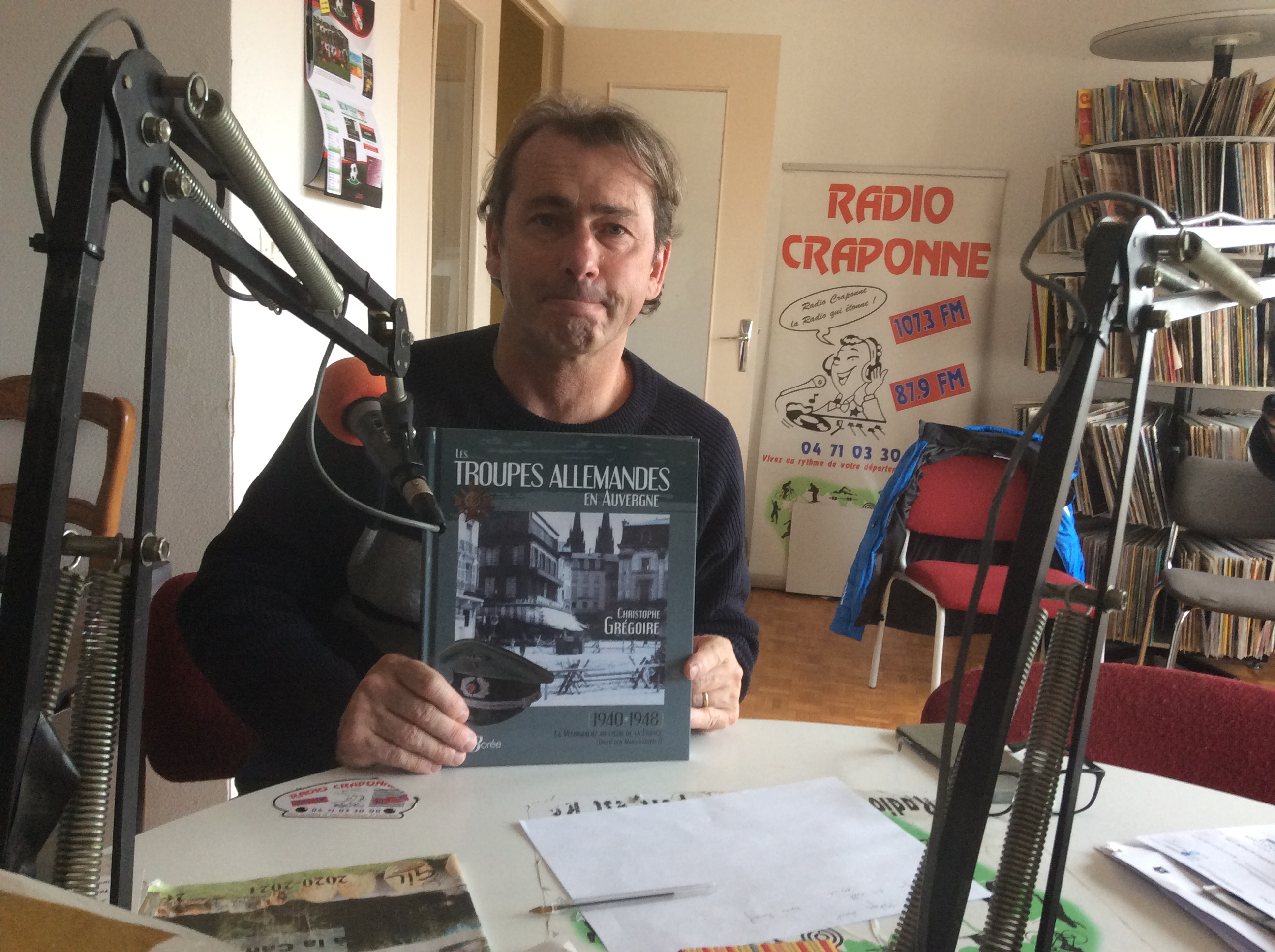 invite du jeudi Christophe Gregoire pour son livre «les troupes allemandes en Auvergne» aux éditions de borée 071120