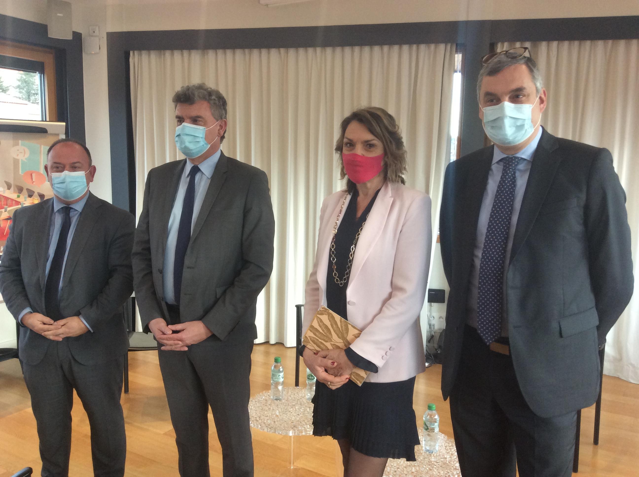 vœux des parlementaires les sénateurs Laurent Duplomb et Olivier Cigolotti et les députés Isabelle Valentin et Jean Pierre Vigier 230121