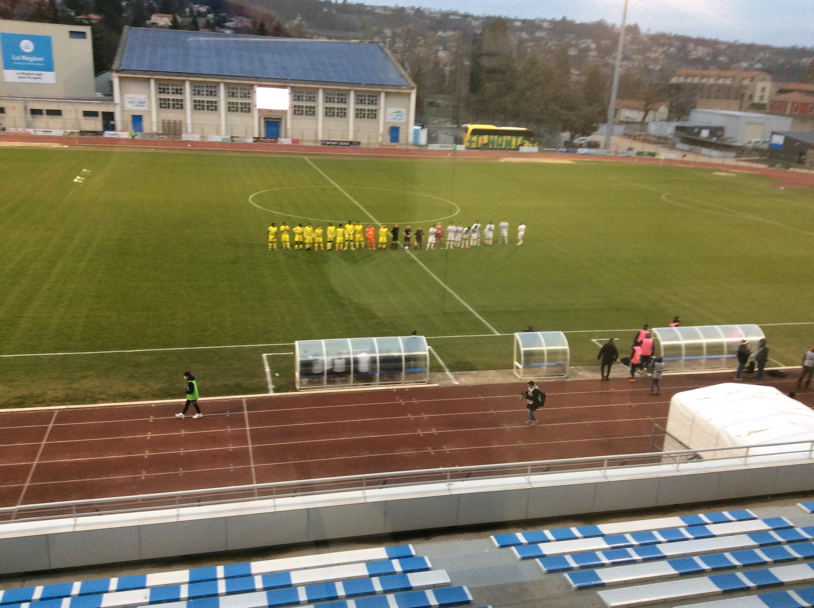 national 2 foot le puy foot 43auvergne 2-0fc Nantes réac après  match 280221