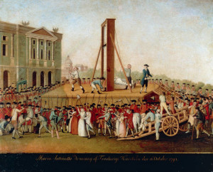 The Execution of Marie Antoinette on October 16, 1793, Late 18th cent. Private Collection. (Photo by Fine Art Images/Heritage Images/Getty Images)